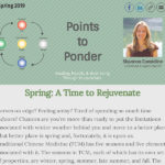 Points to Ponder - Spring 2019